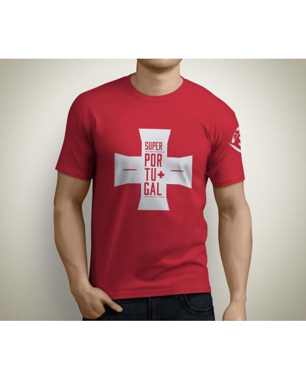T-shirt SuperPortugal Vermelha (Cruz)